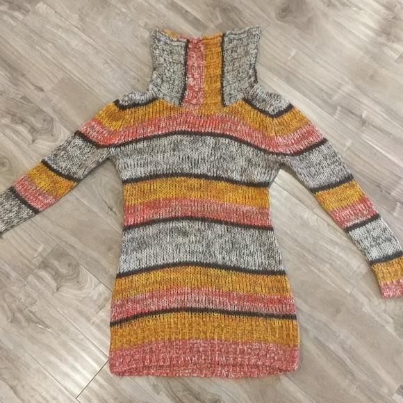 ❄️3/$25 RIVER ISLAND Cowl Neck Knit Sweater Dress